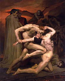 220px-William-Adolphe Bouguereau 1825-1905 - Dante And Virgil In Hell 1850